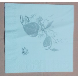 servilleta 30x40 1 capa blanco micropunto plegado 1/6 personalizada 2 colores