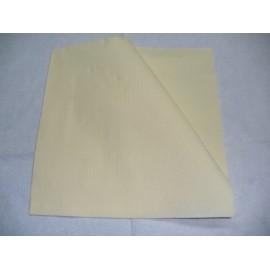 servilleta 20x20 2 capas crema gofrado cenefa plegado 1/4