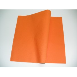 servilleta 30x40 2 capas naranja micropunto plegado 1/4