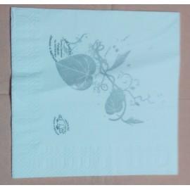servilleta 30x40 2 capas blanco micropunto plegado 1/4 personalizada 1 color