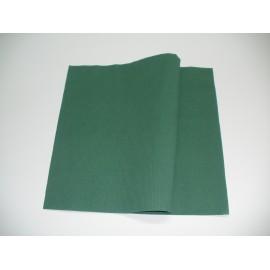 servilleta 30x40 2 capas verde oscuro micropunto plegado 1/6 personalizada 1 color